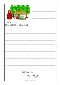 Wolf sorry letter writing frames (Little Red Riding Hood) (SB9125) - SparkleBox