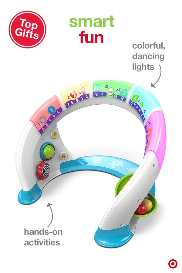 Fisher-Price Bright Beats Smart Touch Play Space is the perfect Christmas gift for wee one on your list. This interactive, touch-sensitive toy encourages and rewards Baby's development through music, lights, colors, songs and more. It's the ultimate way to stimulate their senses while keeping them entertained. Busy activities include ramps, spinners, roller ball and the ability to move and explore all around.