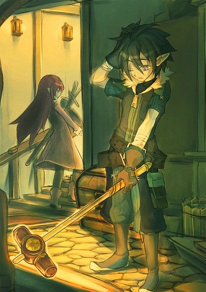 Gaius and Raven (at least until Micah may or may not have run off with her...)