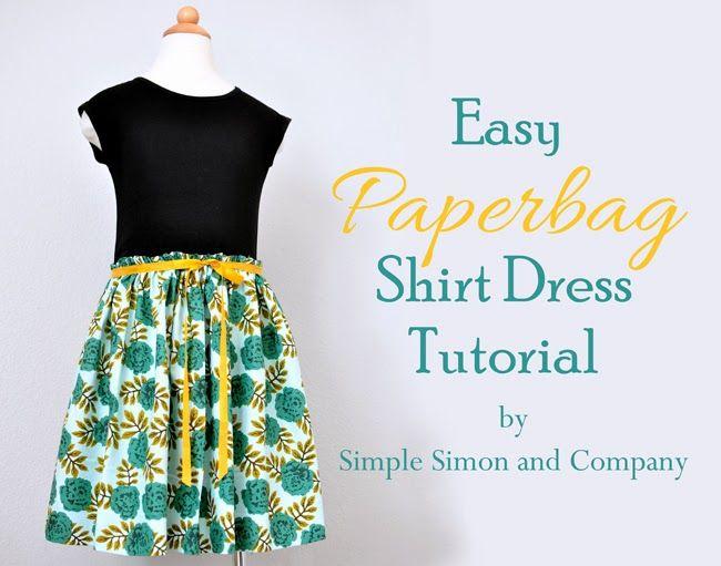 Easy Paperbag Shirt Dress Tutorial