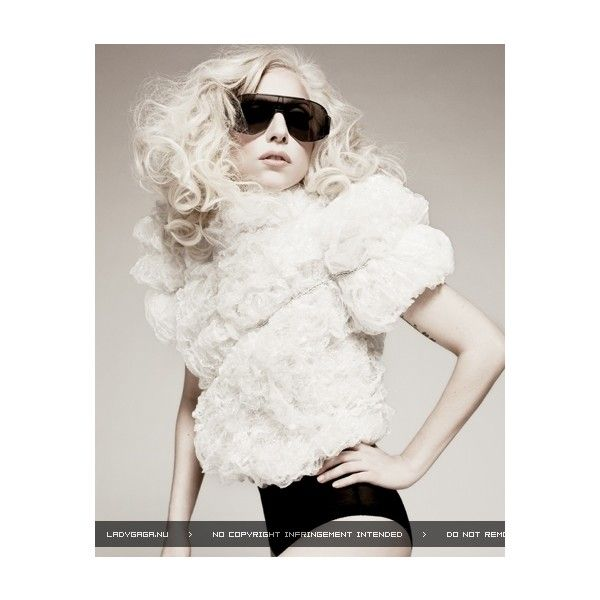 Picture of Lady GaGa ❤ liked on Polyvore featuring tops, gaga, lady gaga, models, images and people