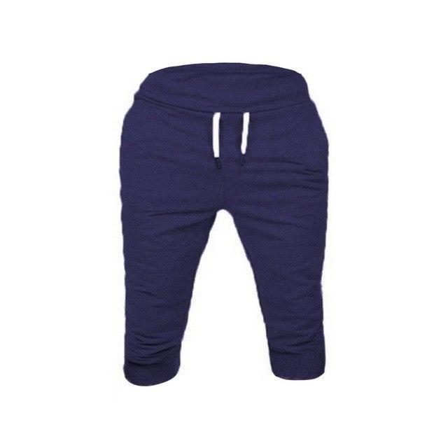 Men'S Running Sport Shorts Gray Sport Basketball Trousers Slim Fitness Jogging Soccer Shorts Gym Clothing Male Summer Navy XXXL