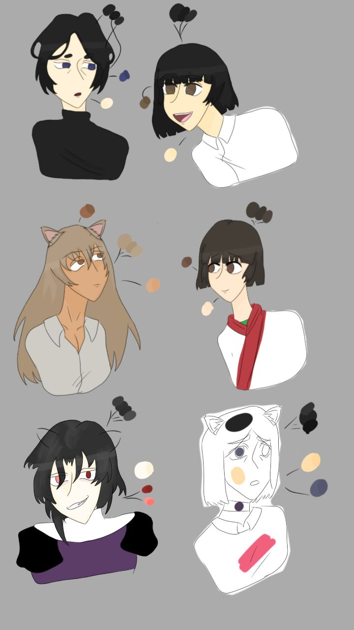 Color palettes anime art color