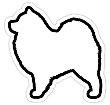 Samoyed Silhouette Waterproof Die-Cut Sticker                                                                                                                            Mais