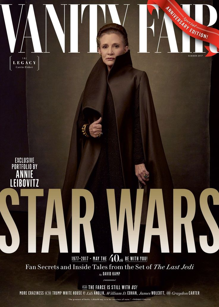 Forty years after her first appearance in the Star Wars saga, Carrie Fisher stands tall as freedom fighter General Leia Organa.