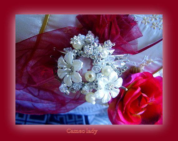 SALE  Now 35.00  Wedding Cuff Bracelet silver by MyAustralia, $35.00