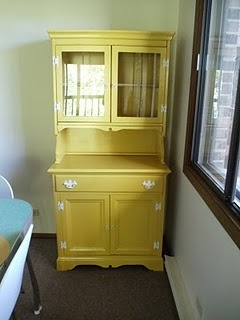 The Lovely Purl Yellow Hutch Painted Furniture