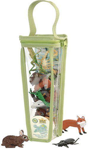 Wild Republic Tubes 83598 - Spielset in wiederverwendbarer Tasche, Wald, Wiese und Gartentiere, 28 cm: Amazon.de: Spielzeug