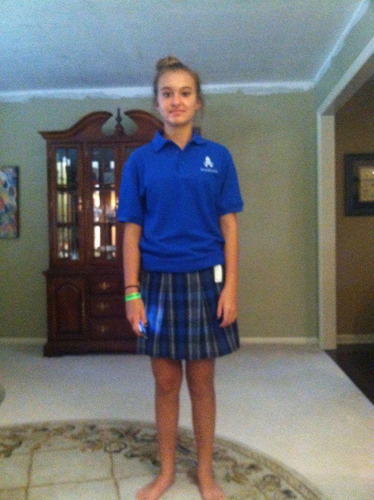 Cute School Uniform on my Girl.