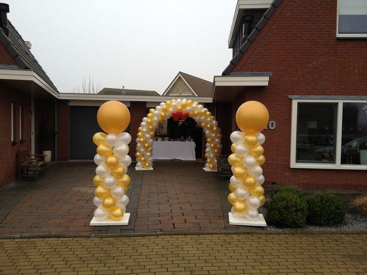 ballondecoratie: ballonboog 6 meter (enkele deur)