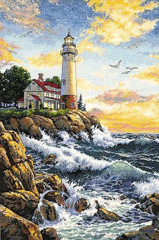 Lighthouse - 1/8 Solo Patrones Punto Cruz | Aprender manualidades es facilisimo.com