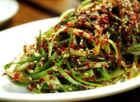 Pa Muchim - Shredded Scallion Salad -Korean Side, Korean Cooking, Korean Pa, Korean Galore, Free Recipe, Foreign Food, Favorite Recipe, Korean Food Recipes, Food Directory