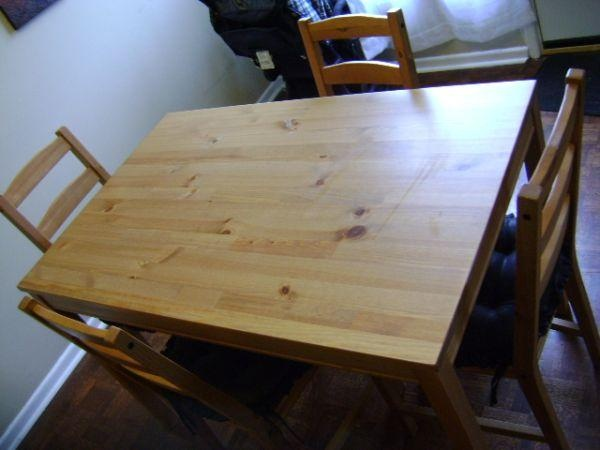 jokkmokk table and 4 chairs antique stain ikea source philippines