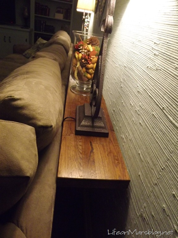 Wall Mounted Sofa Table Great Idea For Baseboard Heating