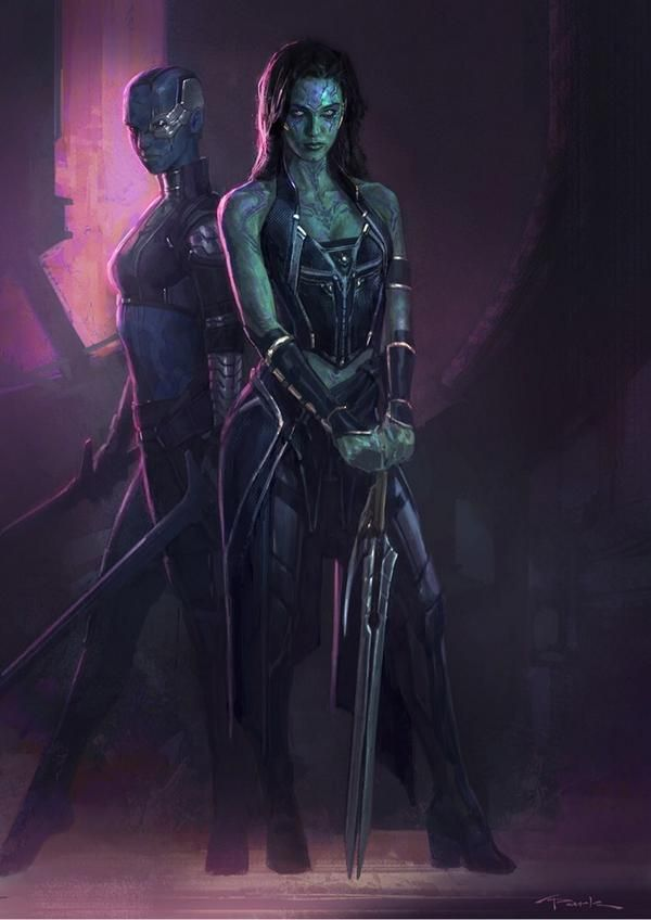Stunning 'Gamora' & 'Nebula' Concept Art by Andy Park - GUARDIANS OF THE GALAXY