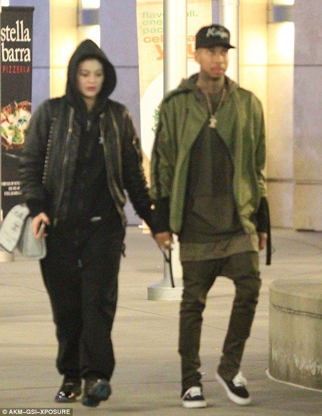 Movie night: Kylie Jenner proved her relationship with Tyga is still going strong as they took in a movie at ArcLight Cinemas in Hollywood on Monday