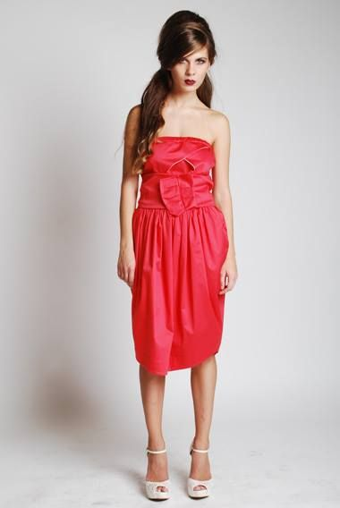 Satin Strapless dress #broke_queens #greek4chic
