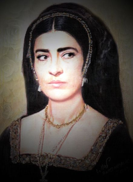 Irene Papas as Catherine of aragon.