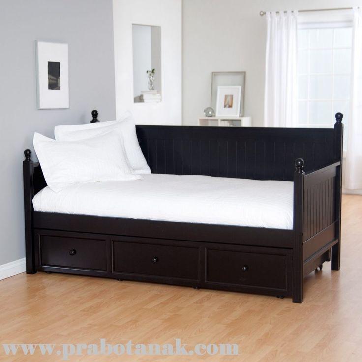 Sofa Bed Anak Minimalis Hitam Sorong