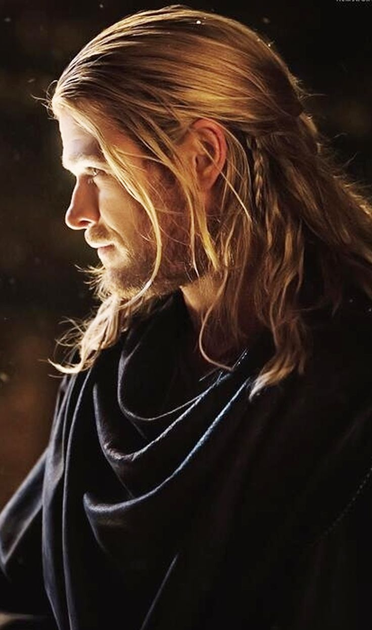 Chris Hemsworth as Thor. I really liked his hair in the second movie, it's actually a style I can do with my hair length now :)