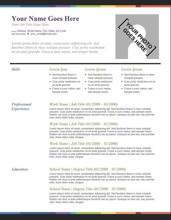 40 best Creative Resumes for Download images on Pinterest Resume - colored resume paper
