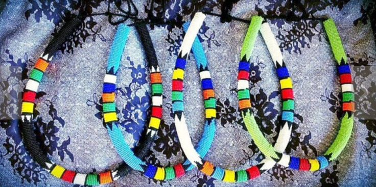 Love this Zulu beaded necklaces.south African style