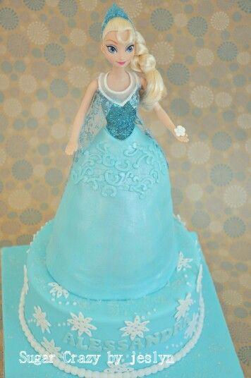 Queen Elsa Cake Disney Frozen All Things Cake Pinterest