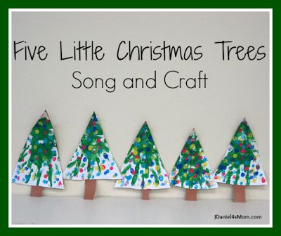 {Five Little Christmas Trees} Craft and Song- Would be a great activity to do on Christmas Day after the presents are opened and the meal enjoyed.