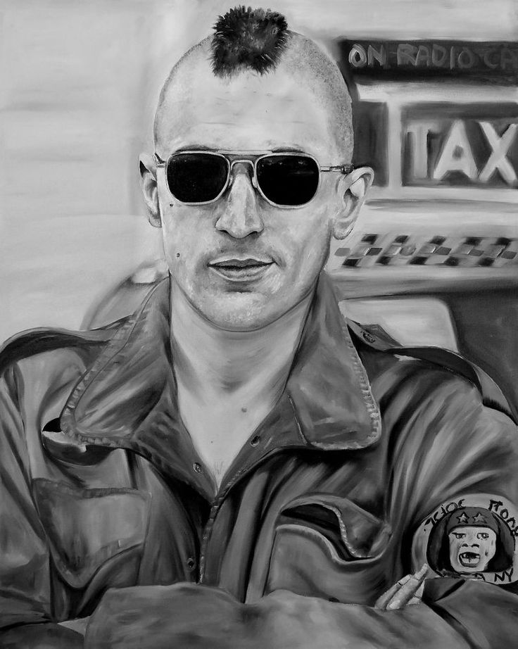 Original Taxi Driver Robert De Niro , Travis Bickle, oil painting,
