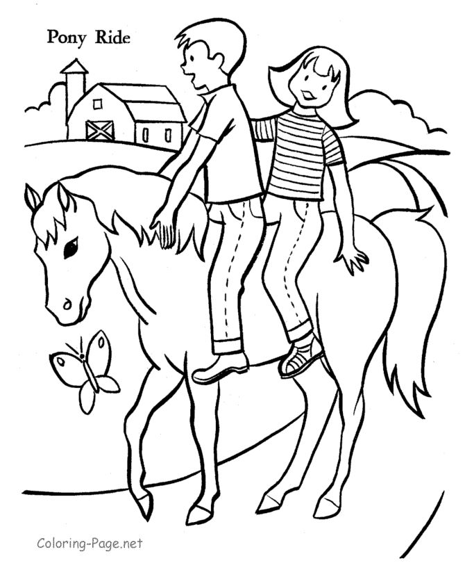Horse coloring pages Kids on
