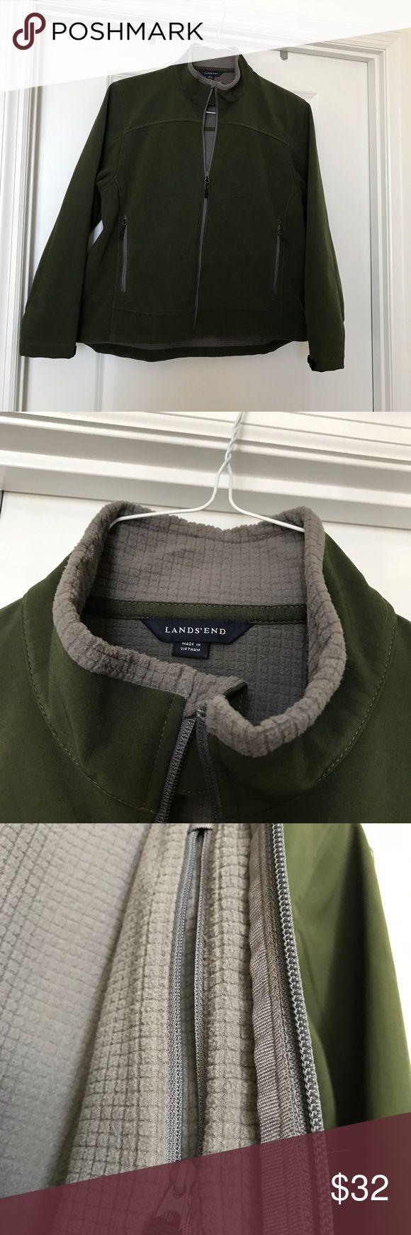 Women's Regular Soft Shell Jacket Green Lands End jacket lightly worn a handful of times Lands' End Jackets & Coats Utility Jackets
