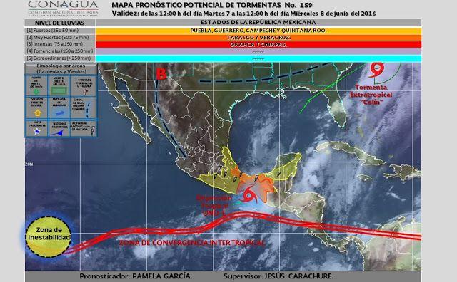 Periodismo sin Censura: Pronóstico  Meteorológico  General  México