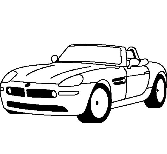 bmw z8 1999 coloring page