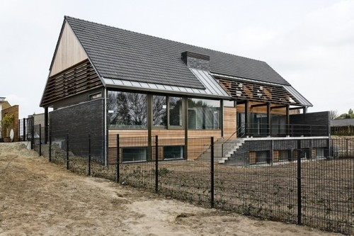 Contemporary Farmyard Four Houses at Oud-Empel, The Netherlands
