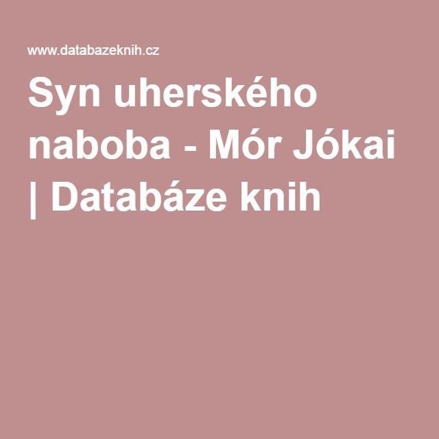 Syn uherského naboba - Mór Jókai | Databáze knih