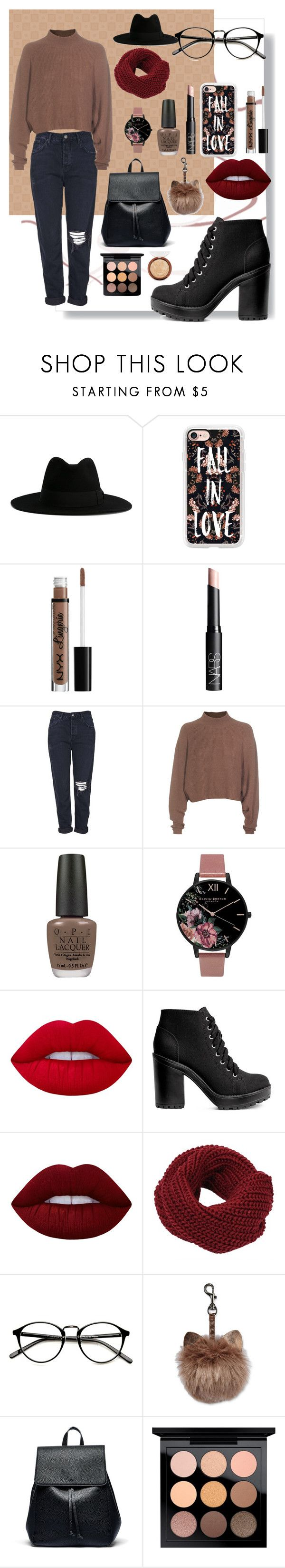 """""""CUP OF COFFEE"""" by dashademianovich ❤ liked on Polyvore featuring Yves Saint Laurent, Casetify, NYX, NARS Cosmetics, Topshop, Acne Studios, OPI, Olivia Burton, Lime Crime and H&M"""