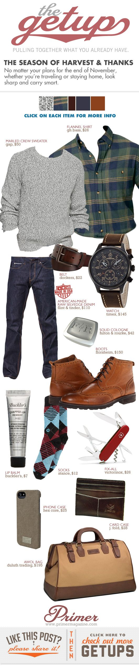 I could use you in this right now //.The Getup: The Season of Harvest & Thanks - Primer #Style minus the gay bag. sorry.