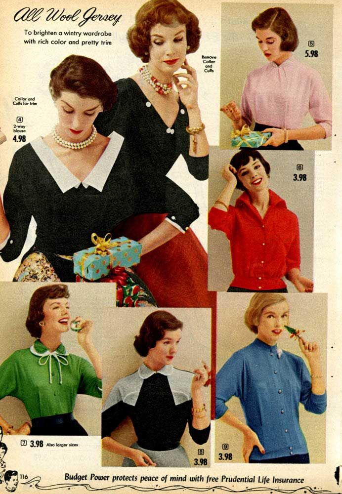 Women S Fashion From A 1955 Catalog 1950s Vintage