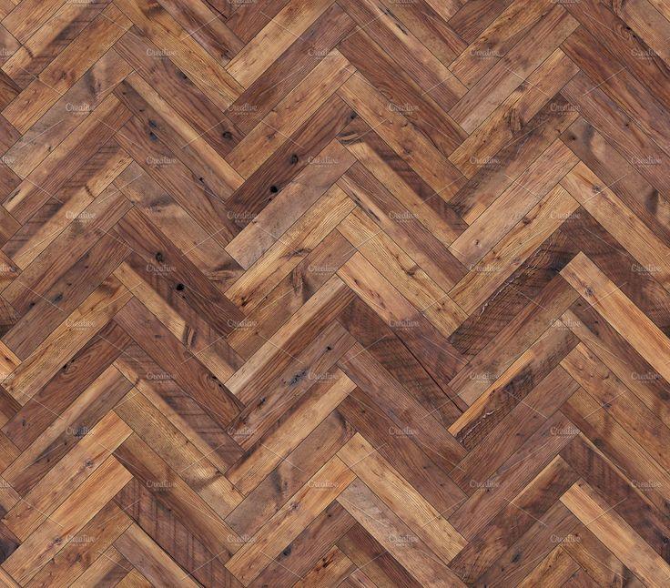 Herringbone natural parquet seamless floor texture by rnax on @creativemarket