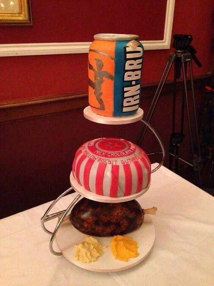 Fun Scottish Wedding cake- could see it for a groom's cake