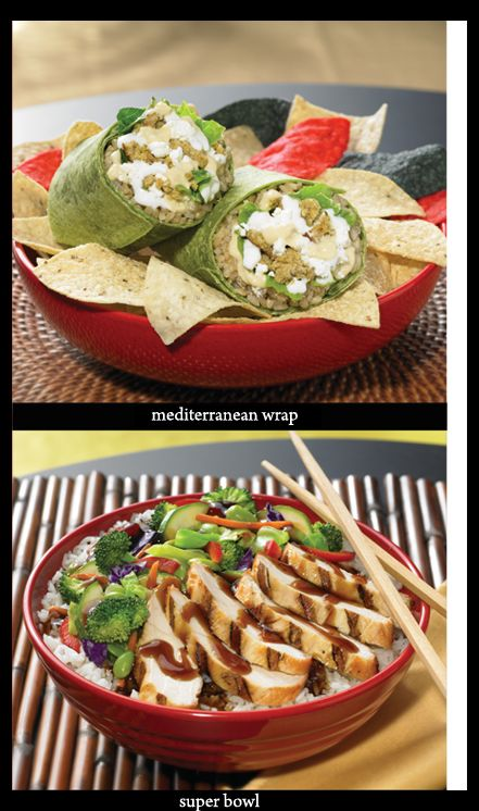 Crazy Bowls and Wraps - Teriyaki White Meat Chicken with Veggies = 10grams of Fat