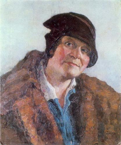 Igor Grabar (1871-1960) - Portrait of M. Grabar-Dobryanskaya