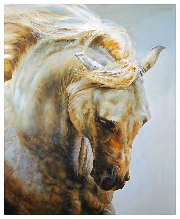 Pretty Horse Painting by Manuel Garcia. Barcelona, Spain