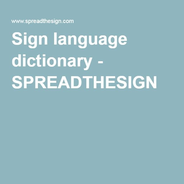 sign language dictionary spreadthesign ressources