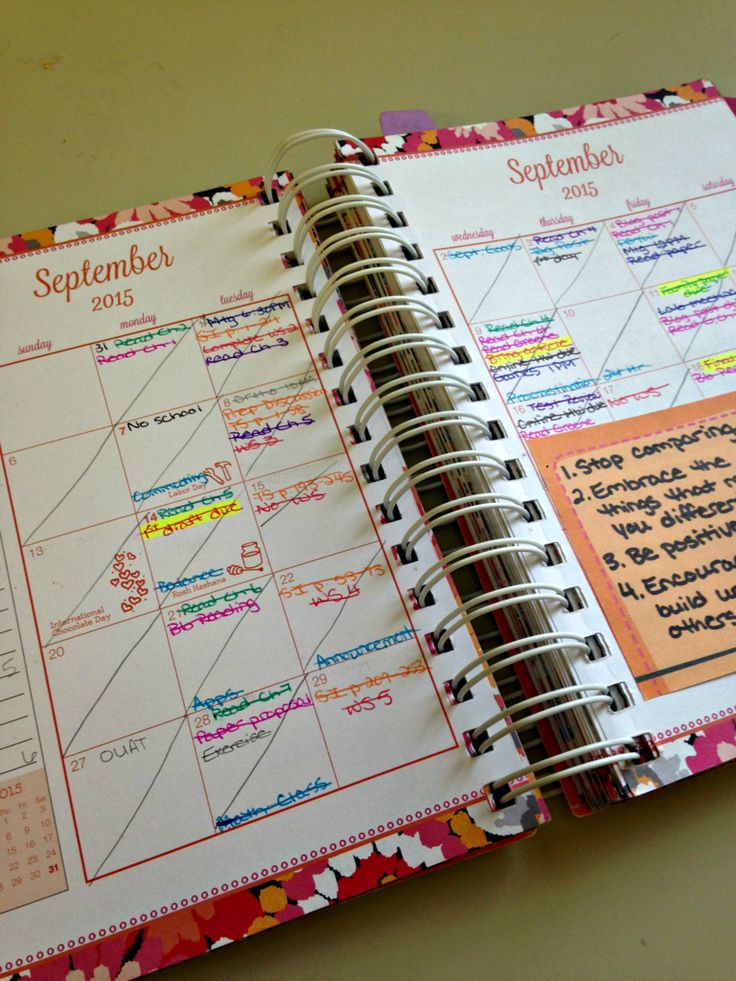 """Hi, friends! Today, I'm going to let you peek into my planner! I currently use the Vera Bradley 2015-16 Student Agendain the print """"Pixie Blooms"""". I bought it at my school's bookstore. Here's how I use my planner to stay organized and tokeep track of due dates, appointments, and goals. I write down my schedule …"""