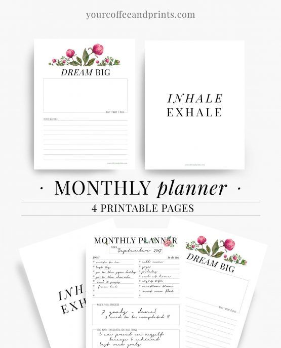 free printable motivational quotes planner template