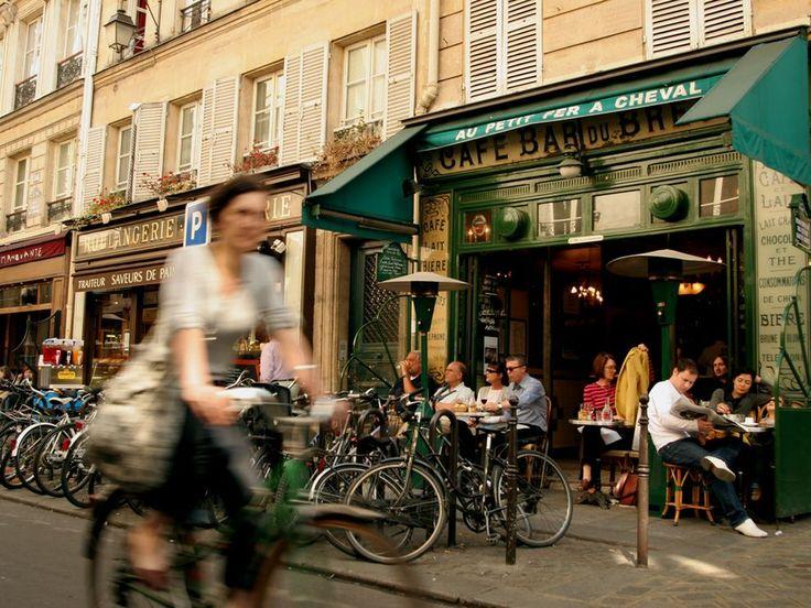 cafes+bicyclette=Paris