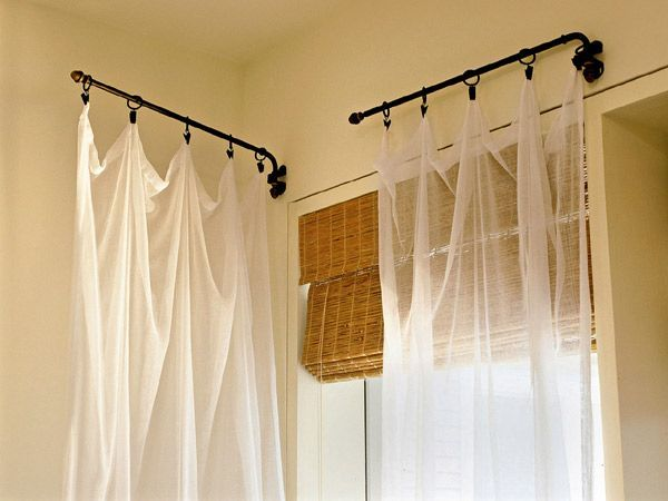 Image Result For Swing Arm Curtain Rod With Images Curtains
