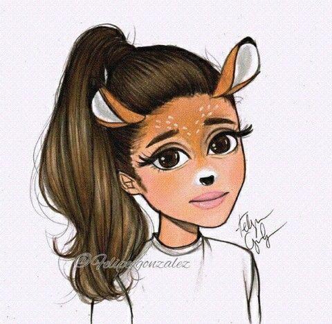 Il y'a un dessin de Ariana grande