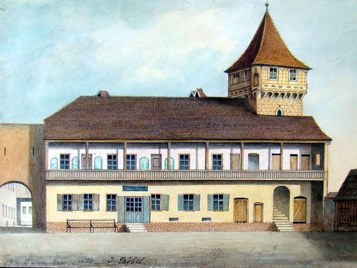 Böbel - Vechiul han din curtea teatrului la 1876
